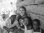 Erica Batstone in Stellenbosch, South Africa with children