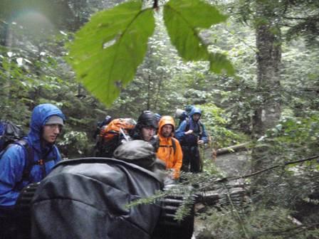 Rainy hike