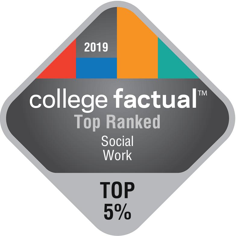 college factual: top ranked Social Work Top 15%