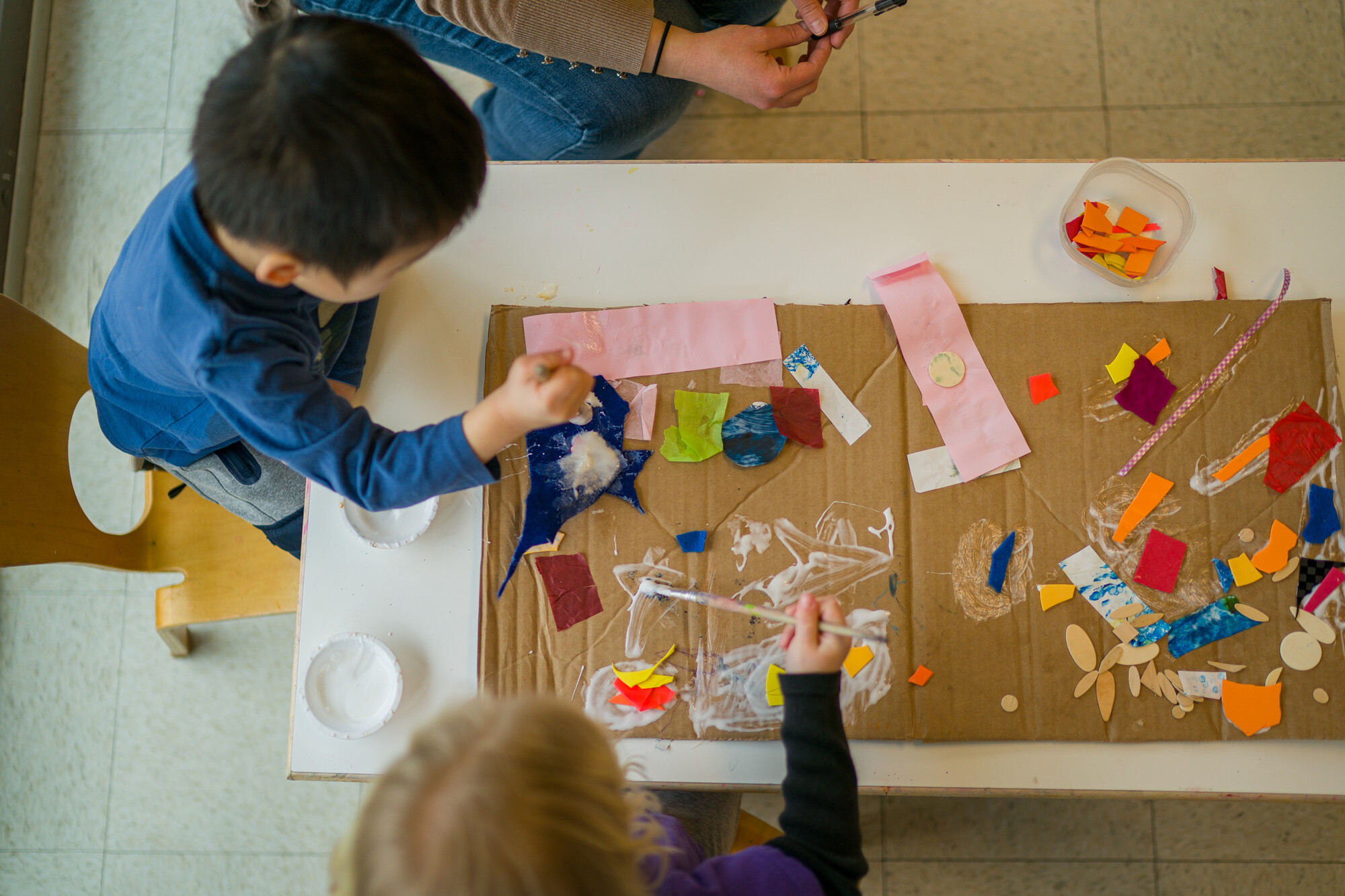 Children making art at CSDC