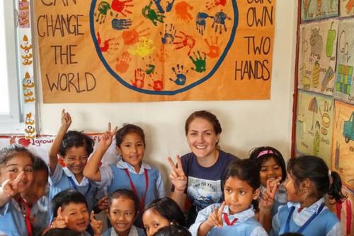 Nursing student Marin in Nepal