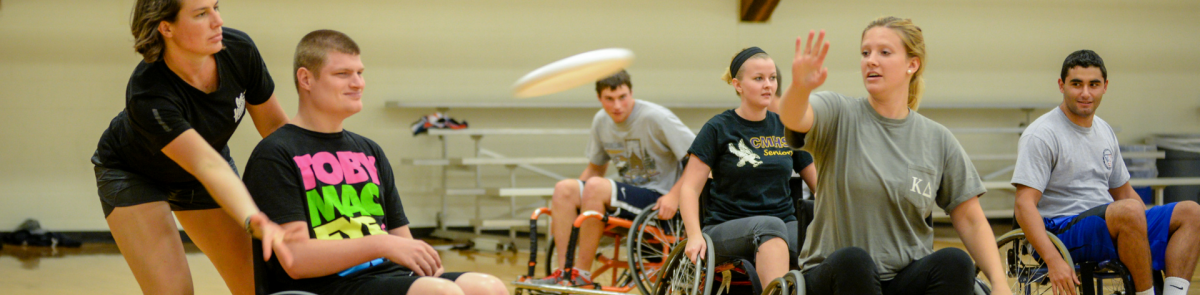 Adapted physical education class