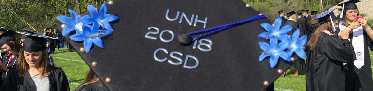 Graduation Cap for graduating CSD student