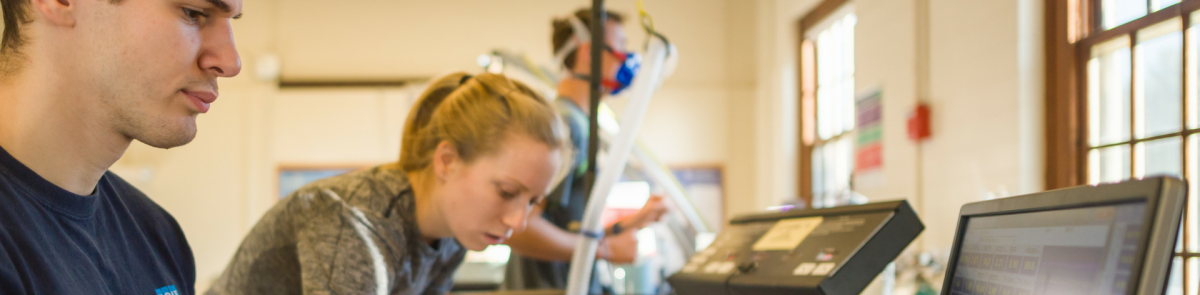 Students conduct research in the exercise physiology lab