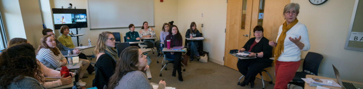 Students in master of social work class