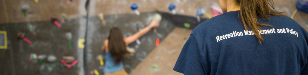 RMP Student running program at Rec Climbing Wall