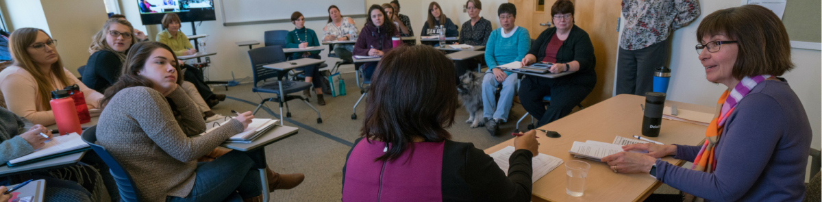 MSW students attending a class