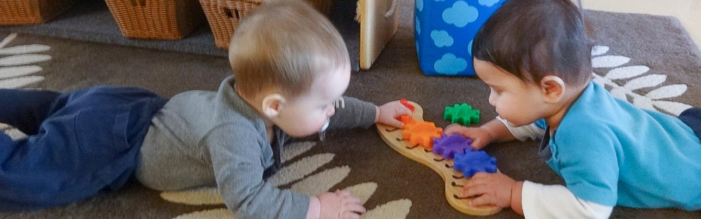 infants playing