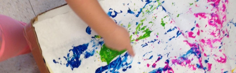 Nursery painting texture exploration