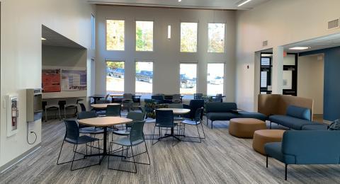 Common area in the Health Sciences Simulation Center