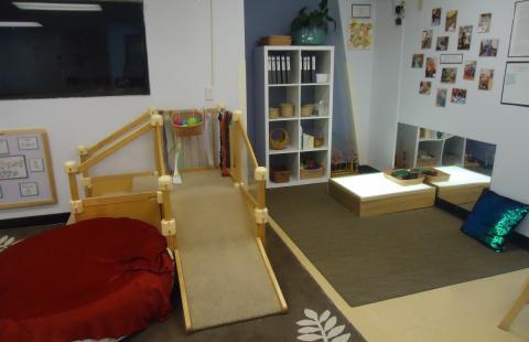 equipment in infant classroom