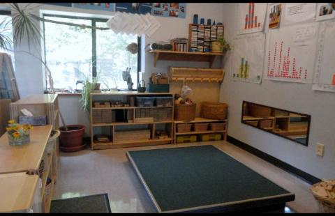 Kindergarten play/learning area