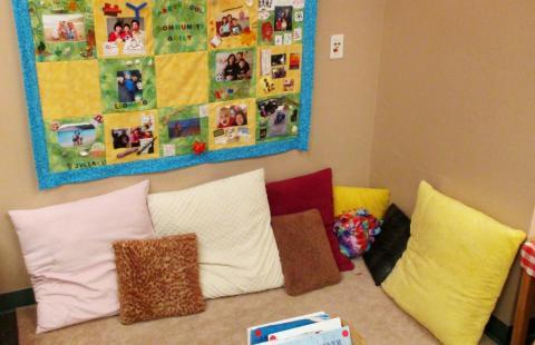 Preschool 2 reading area