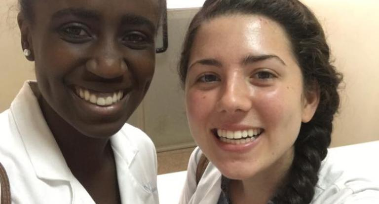 OT student Carolyn D'Olympio in Ghana