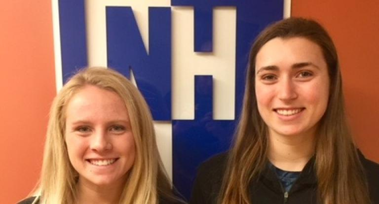 Madeline Zimmerman and Brooke Bergeron were recognized by NHATA as the 2018 Scholarship recipients