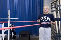 UNH Kinesiology man stretching