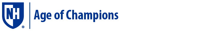 UNH Age of Champions logo
