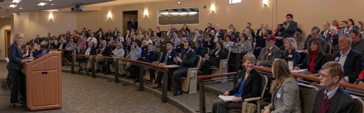 Audience photo from the Health Care Costs event