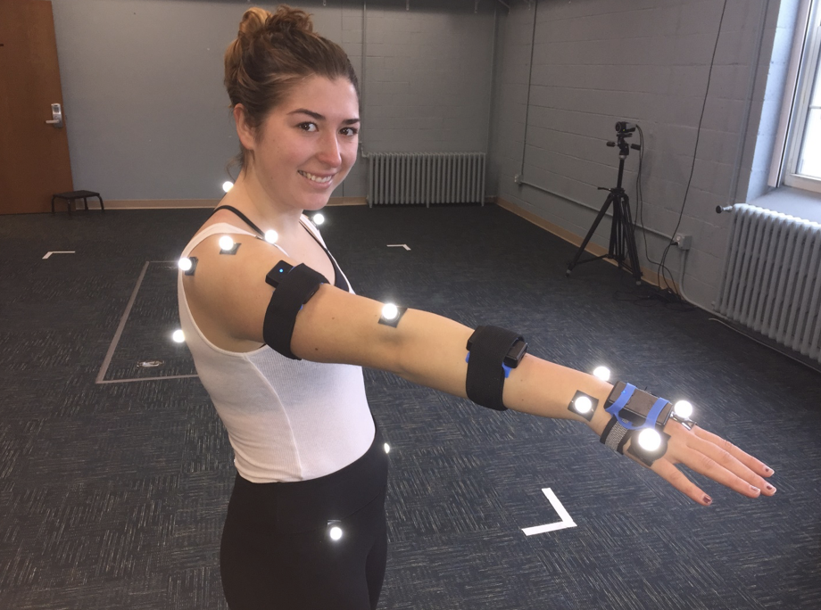 Student in the Biomechanics and Motor Control Lab