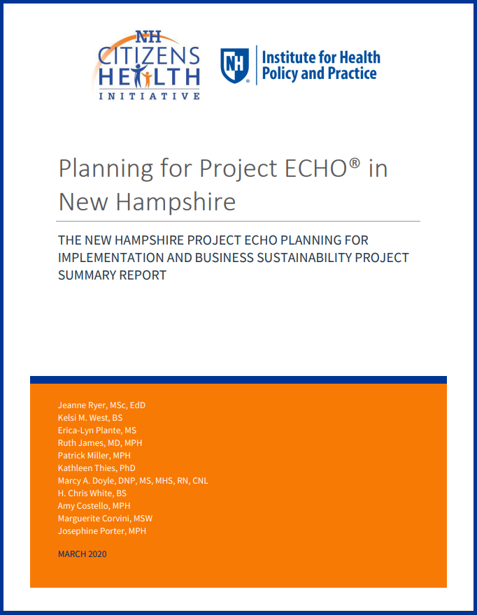 screenshot of coverpage of NH Project ECHO Summary Report